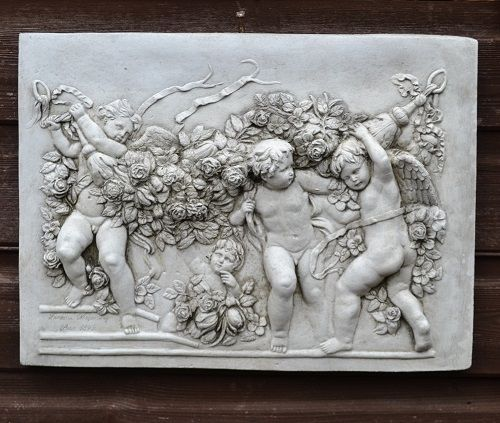 Cherub Angel Wall plaque in low relief